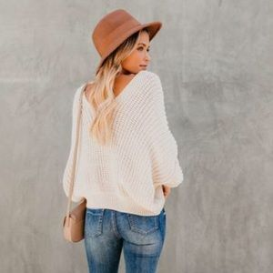 Vici Sweaters - Vici Carry On Knit V-Neck Sweater